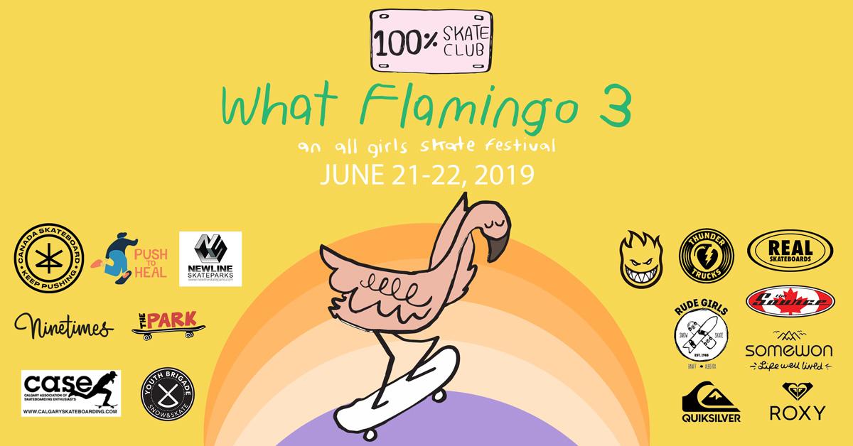 What Flamingo 3 Women and Girls Skateboarding Calgary
