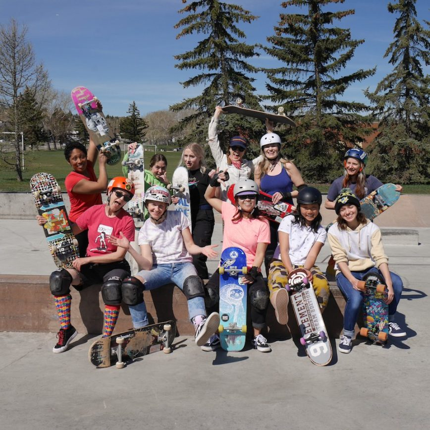 calgary women skateboarding