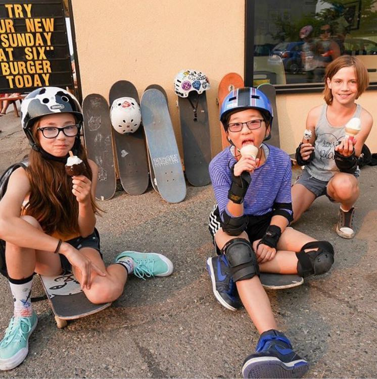 Photo of girls eating ice cream