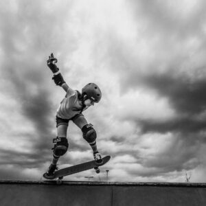 Photo of skater doing a 50-50
